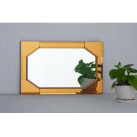 Wholesale Decorative Spell Mirror vanity table yellow frame mirrors from china suppliers