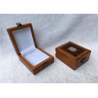 Quality Metal Locked Rectangular Gift Box For Watches Collection , Solid Red Wooden for sale