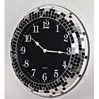Wholesale High Quality modern design Mosaic Wall Clock,black mosaic 18inch from china suppliers