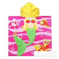 Wholesale Full Printing Animal Design Hooded Poncho Towels For Beach / Pool from china suppliers