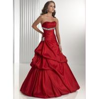Wholesale Simple Red Strapless Long Evening Party Dresses For Military Ball from china suppliers