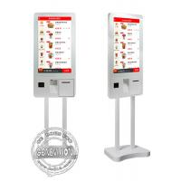 Wholesale 32inch Windows10 Ordering Machine Kiosk, PCPA Film Touch Screen Kiosk with Thermal Printer, QR code Scanner and POS from china suppliers