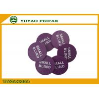 Wholesale PP Purple Poker Dealer Button Small Blind Game Button For Casino from china suppliers