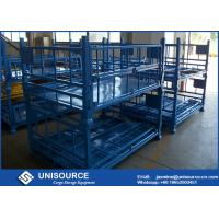 Wholesale Heavy Duty Foldable Metal Box Turnover Box For Warehouse Storage / Transport from china suppliers
