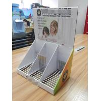 Wholesale Pencil countertop display with customized slots,removable topheader cardboard display box from china suppliers