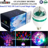 Wholesale Christmas Decoration Rotating LED Magic Ball Light E27 B22 3W LED Party Lighting from china suppliers