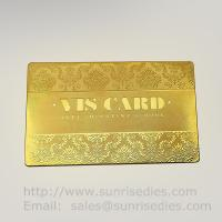 Wholesale Custom Chemical metal etching VIP business cards supplier in China from china suppliers