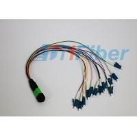 Wholesale MPO / APC - LC / APC 12 Cores Fiber Optic Pigtail Ruggedized round cable from china suppliers