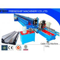 Wholesale 2.5 m/min - 5 m/min Punching Speed Cable Tray Roll Form Machine With Automatic Stacker from china suppliers