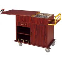 Wholesale Sliding Top Shelf Flambe Cooking Cart for Hotel from china suppliers