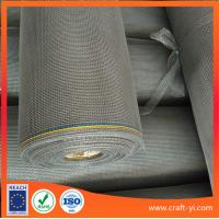 Wholesale Gray color gauze for screening windows in fiberglass coated PVC from china suppliers