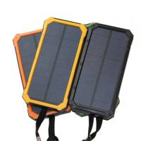 Wholesale Large Capacity 8000mAh Portable Mobile Solar Power Bank Battery Backup Pack from china suppliers