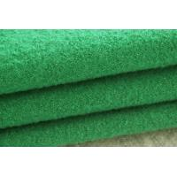Quality Green Color Medium Weight Boiled Wool Fabric For Blazer Without Washed for sale