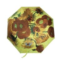 Wholesale High quality 3-fold full color print fashion umbrella sun flower from china suppliers
