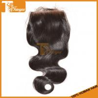 Wholesale Best Quality 6A Brazilian Virgin Hair Body Wave Free Parting Cheap Human Hair Lace Closure from china suppliers