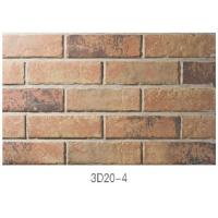 Wholesale 3D20-4 Lightweight Pure Clay Thin Veneer Brick For Indoor / Outdoor Wall from china suppliers