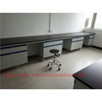 Wholesale 3750 mm  Wood Frame Blue /  White School Lab Workbench  with drawers furniture For Chemistry Laboratory from china suppliers