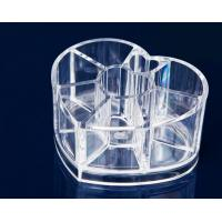 Wholesale Heart Clear Acrylic Makeup Organizer For Cosmetic Tools Holer from china suppliers