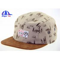 Wholesale Cool Suede Snapback 5 Panel Camp Cap , Short Brim Custom Made Baseball Caps from china suppliers