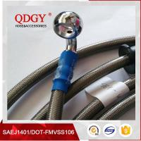 Buy cheap DOT FMVSS106 approved 1/8 SAE J1401 standard colored stainless steel braided brake hose, braided bra from wholesalers
