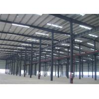 Hot Dipped Galvanized Metal Frame Warehouse , Pre Manufactured Steel Buildings