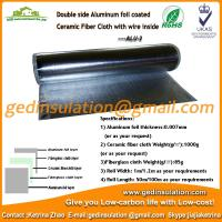 Wholesale Double side aluminum foil coated ceramic fiber cloth with wire inside from china suppliers