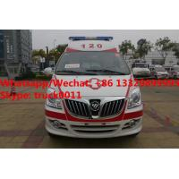 Wholesale High quality and lower price FOTON MP  E series transiting ambulance vehicle for sale, FOTON gasoline ambulance from china suppliers