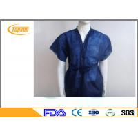 Wholesale Non Woven Disposable SPA Robes Clothes , PP SMS Hotel Sauna Suit Gown from china suppliers