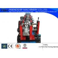 Wholesale Automatic hydraulic system C Z Purlin Roll Forming Machine With Pre-Punching from china suppliers