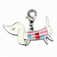 Wholesale Dog Shape Pet Charm, Can be Used on PU, Leather and PVC Collars, Available in Various Designs from china suppliers