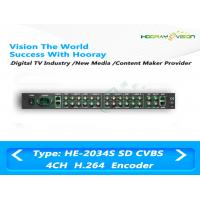 Wholesale Low Bit Rate SD Digital TV Encoder 85-260 V AC 4 CVBS Input 483mm x 44mm x 400mm from china suppliers