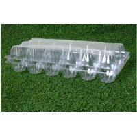 Wholesale 18 Cavities Clear Plastic empty egg cartons / customized egg cartons from china suppliers