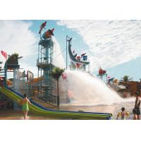 Wholesale Water Playground Equipment With Fiberglass Spiral Water Slide For water park from china suppliers