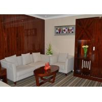 Quality Custom Rosewood Veneer Commercial Hotel Furniture Strong Modern Bedroom Set for sale