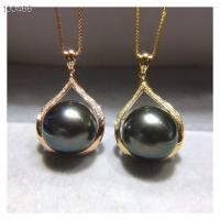 Wholesale 18k Gold Jewelry South Pearl Pendant Necklace Pave Diamonds from china suppliers