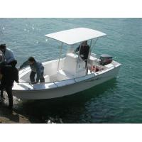 Wholesale 6 M Fiberglass Hull Pontoon Fishing Boats , 6 Person Inflatable Boat With Center Console from china suppliers