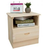Wholesale Single Drawer Hardwood Bedside Tables , Pretty Bedside Chest Drawers For Home from china suppliers