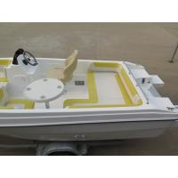 Wholesale 40HP 5m comfortable fiberglass pleasure yacht with all cushions from china suppliers