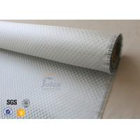 Wholesale Silver Coated Fabric Surface Decoration 0.2mm Aluminized Fiberglass Cloth from china suppliers