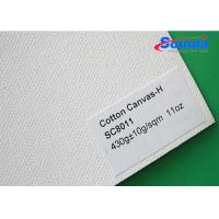 Wholesale White Laminated Heavy Cotton Canvas Fabric for Photography Printing 430g/m2 Weight from china suppliers