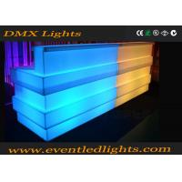 Quality Outdoor party led illuminated furniture combined led bar counter rechargeable commercial furniture for sale