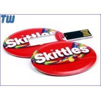 Buy cheap Full Color UV Digital Printing 128GB USB Pendrives Special Oval Card from wholesalers