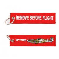 Wholesale Spitfire  Remove Before Flight Fabric Key Chain Aviation Tags from china suppliers