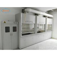 Buy cheap Anti Strongest Acid  Alakli White / Blue Steel Fume Hood For Chemical Factory  / School  /  Hospital from wholesalers