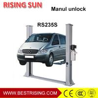 Wholesale 2 post car hoist used automotive workshop equipment with manual unlock from china suppliers