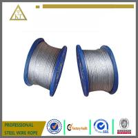 Wholesale Electric Galvanized Steel Wire Rope 1x7 steel cable steel wire cable from china suppliers