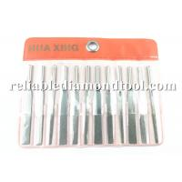 Wholesale 12pcs Flat Electroplated Vibration Diamond Needle File 42-45 HRC For Metal / Plastic Moulds from china suppliers