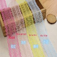 Wholesale 45cm Lace Ribbon Tape DIY Embroidered Lace Trim Fabric Sewing Decoration from china suppliers