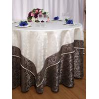 Wholesale OEM Satin Cotton Restaurant Napkins Round With Beautiful Flower from china suppliers