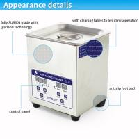 Wholesale Popular 2L digital heated denture Benchtop Ultrasonic Cleaner SUS304 stainless steel body from china suppliers